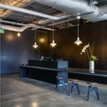 Modern architecture of office reception